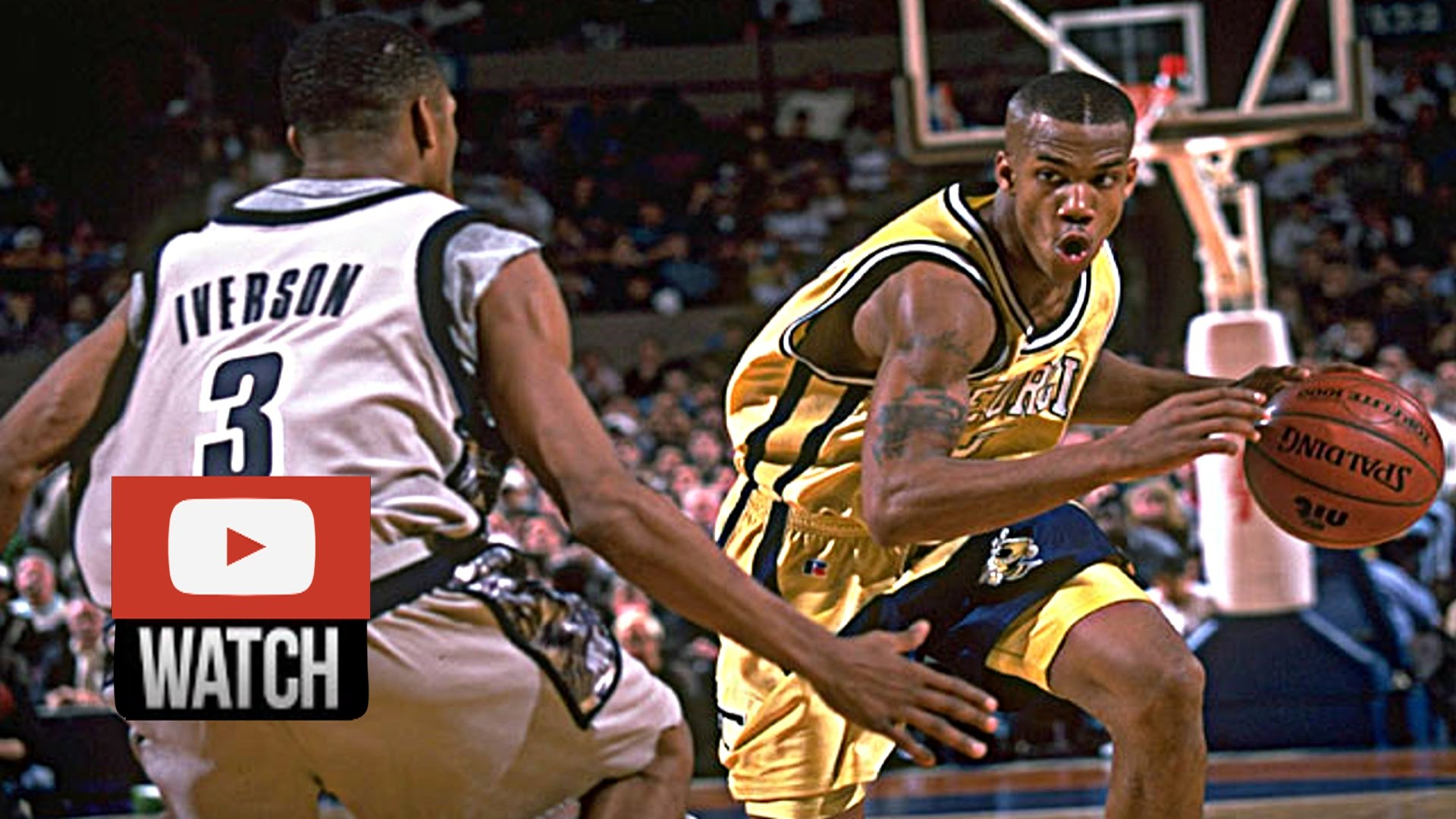 Allen Iverson Vs. Stephon Marbury NIT Duel Highlights Hoyas Vs. Yellow Jackets