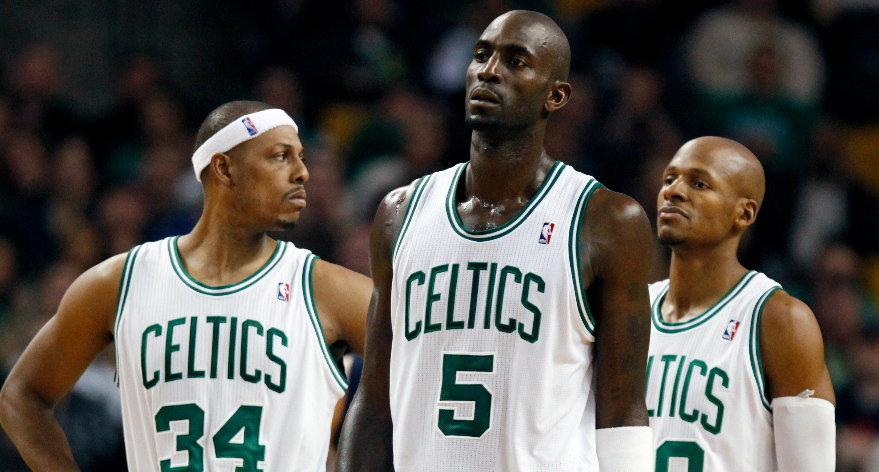 fa4efdc0af6 Ray Allen Went Golfing During Paul Pierce's Jersey Retirement ...