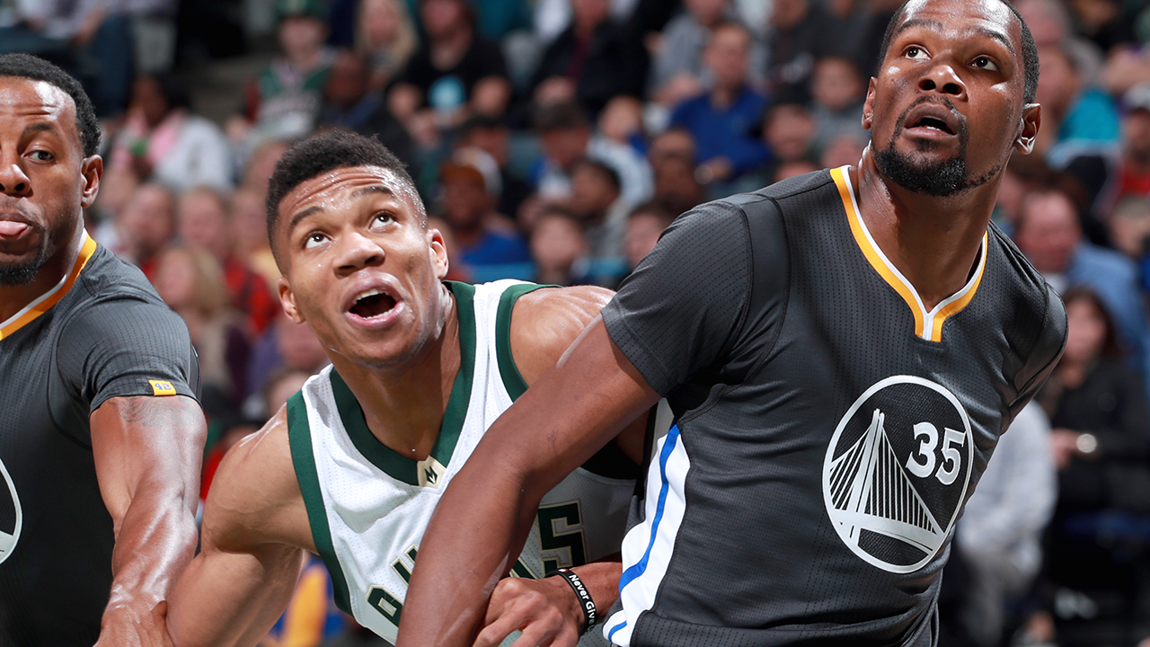 "4bd960ae75d Kevin Durant  ""Giannis Antetokounmpo Could End Up Being The Best Player To  Ever Play"""