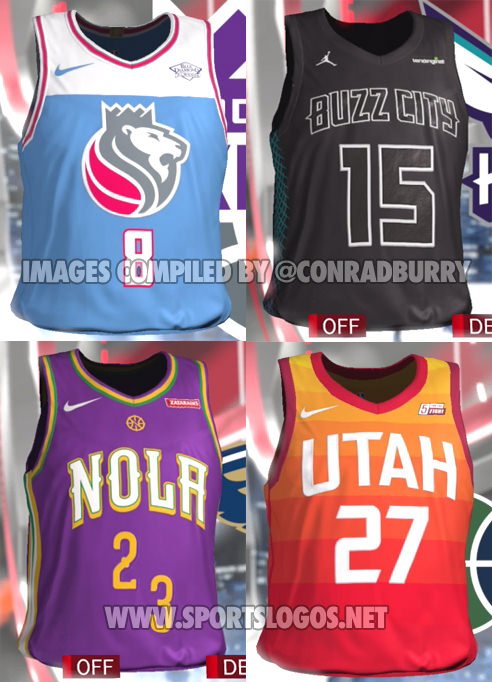 b07adcf99a6 NBA 2K18 Accidentally Leaks All The 'NBA City Edition' Alternate ...