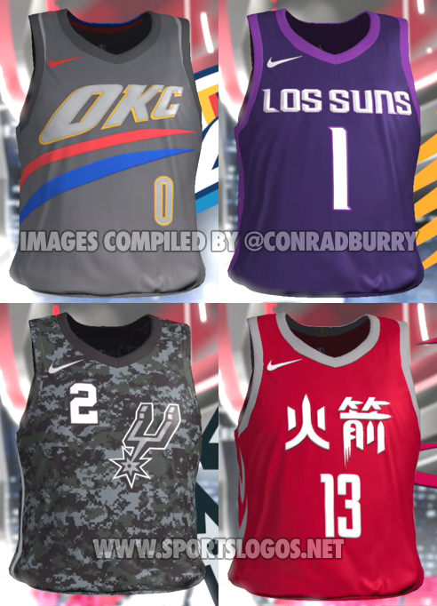 super popular 8634a aa138 NBA 2K18 Accidentally Leaks All The 'NBA City Edition ...