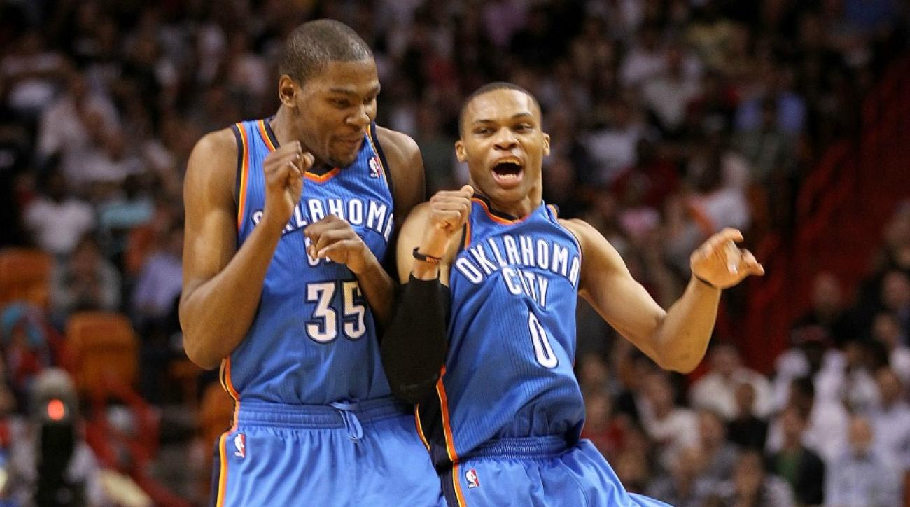 4c9bcb9900b8 Footage Of Russell Westbrook And Kevin Durant Talking Like Best Friends  Again