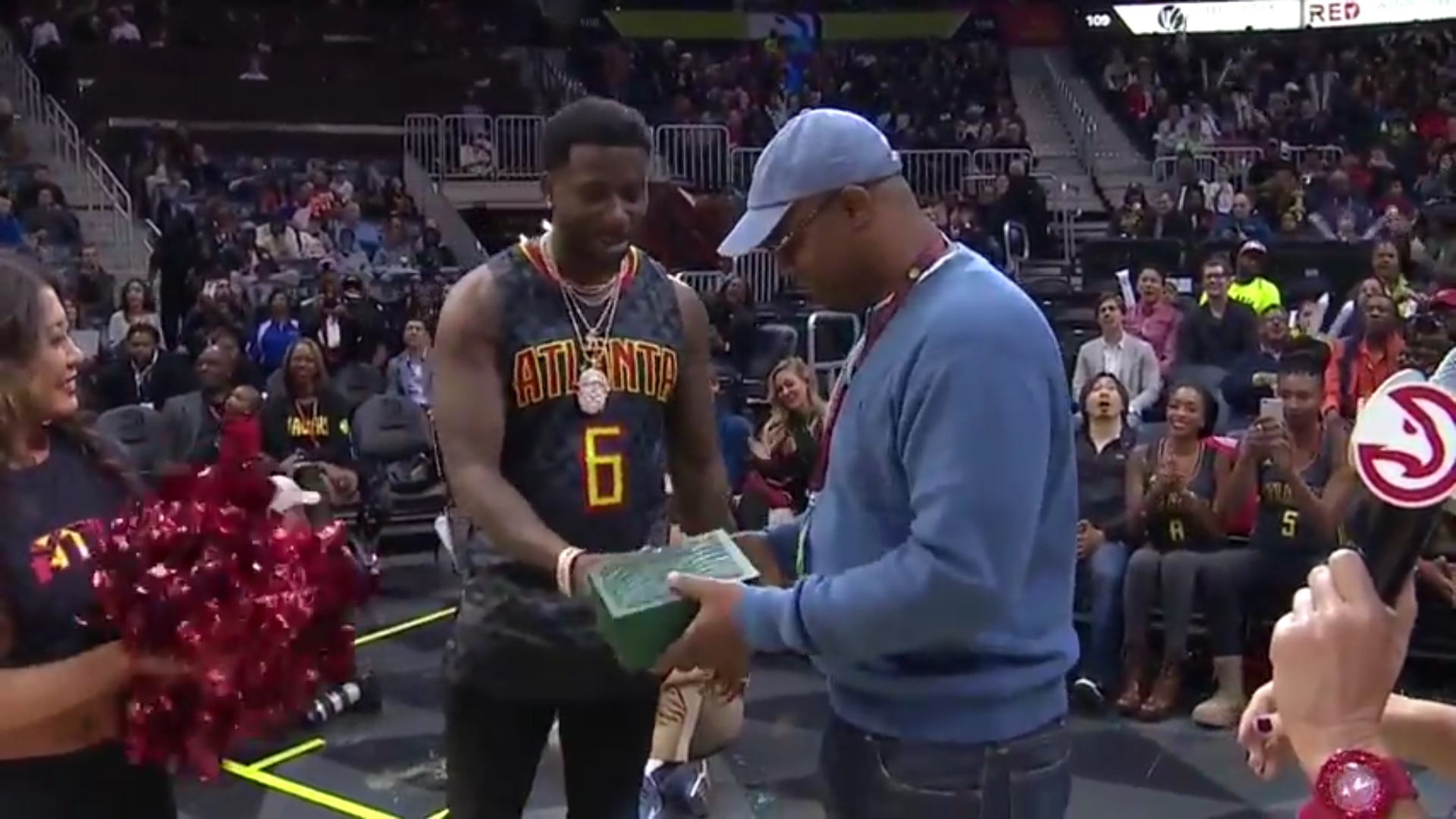 Gucci Mane Proposes During Hawks Game & Gives Away Rolex To A Fan