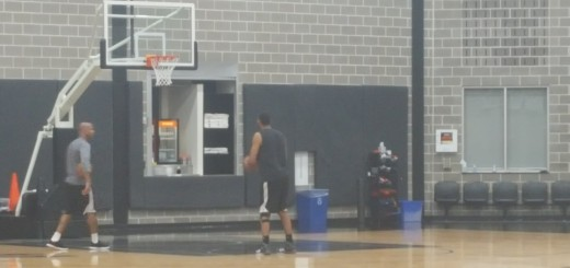 61bac656e6e Retired Tim Duncan Still Is The Last To Leave Spurs Practice