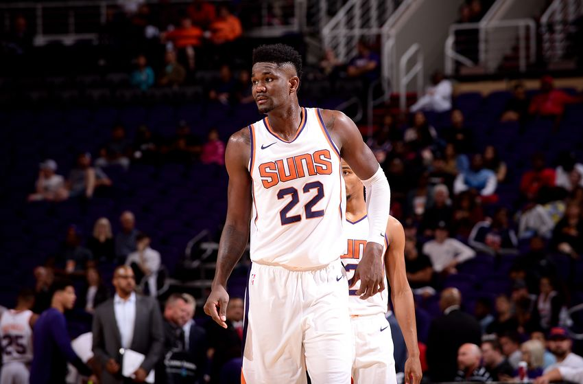 Deandre Ayton Taped Over Nike Logo Instead Of Wearing Puma Sneakers ... f2eac8518