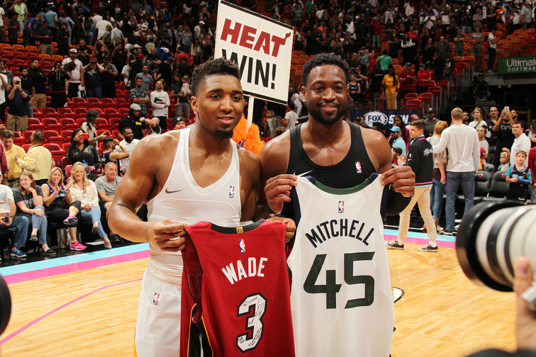 best authentic a1bc5 9cb02 Passing The Torch - Dwyane Wade And Donovan Mitchell's ...
